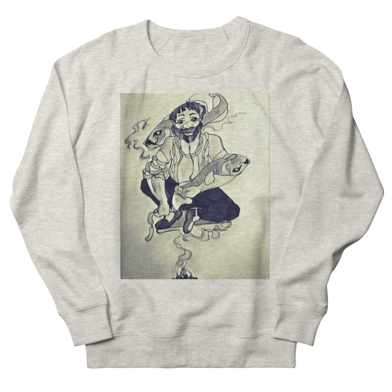 Smoker King Men's French Terry Sweatshirt by peacewild's Artist Shop