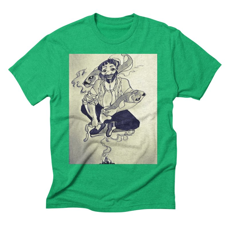 Smoker King Men's Triblend T-Shirt by peacewild's Artist Shop