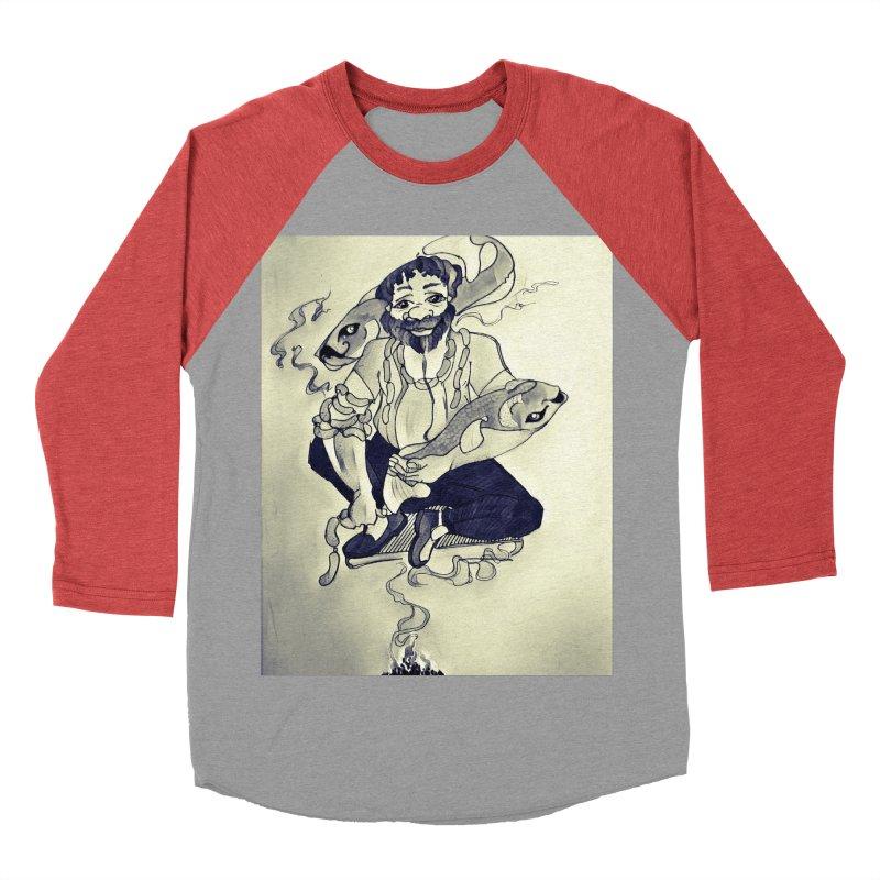 Smoker King Men's Baseball Triblend Longsleeve T-Shirt by peacewild's Artist Shop