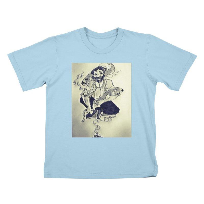 Smoker King Kids T-Shirt by peacewild's Artist Shop