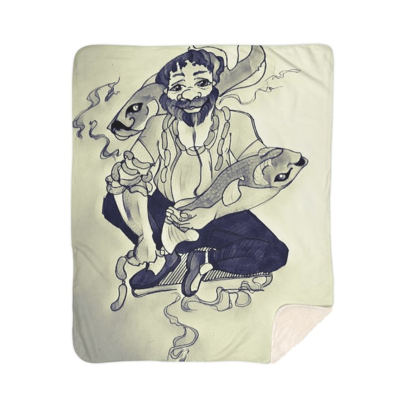 Smoker King Home Blanket by peacewild's Artist Shop