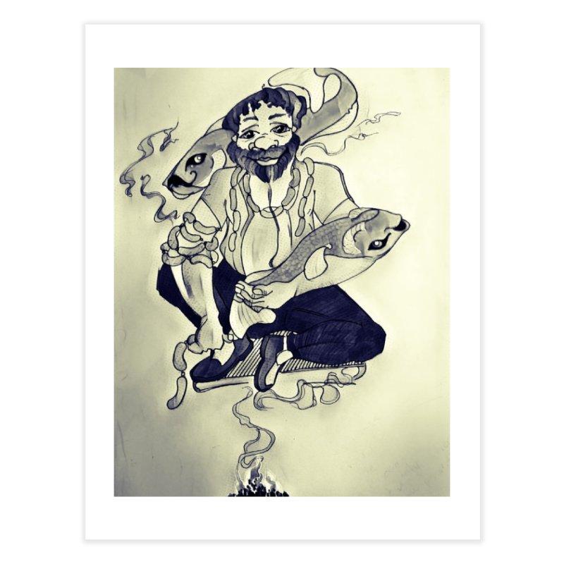 Smoker King Home Fine Art Print by peacewild's Artist Shop