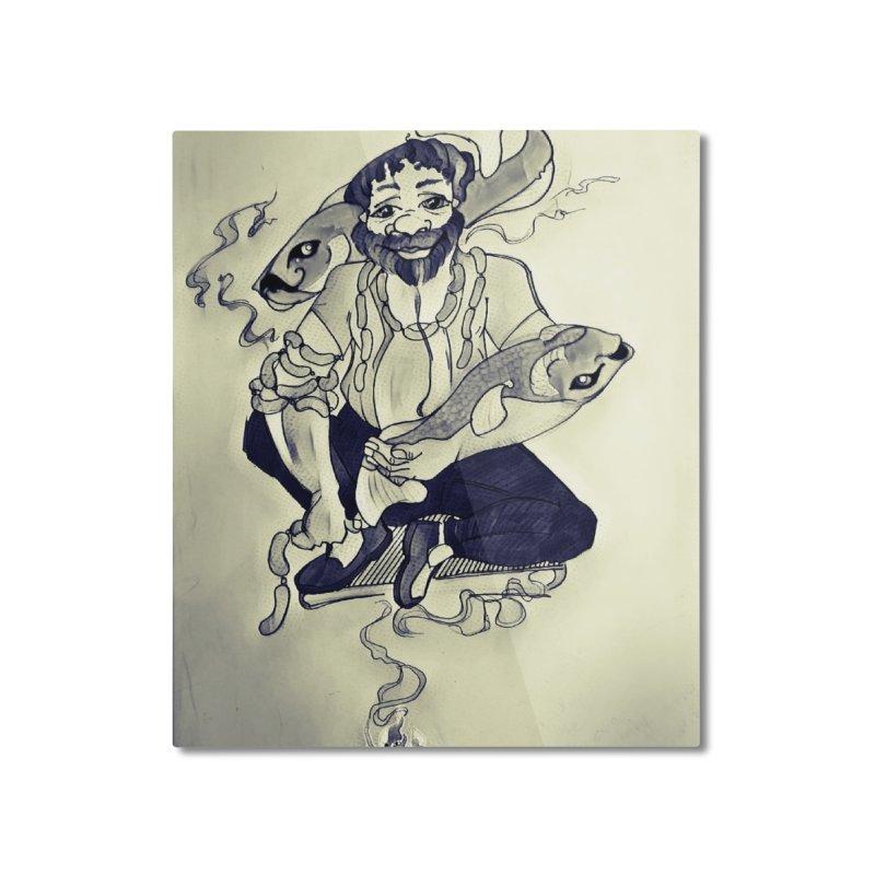 Smoker King Home Mounted Aluminum Print by peacewild's Artist Shop