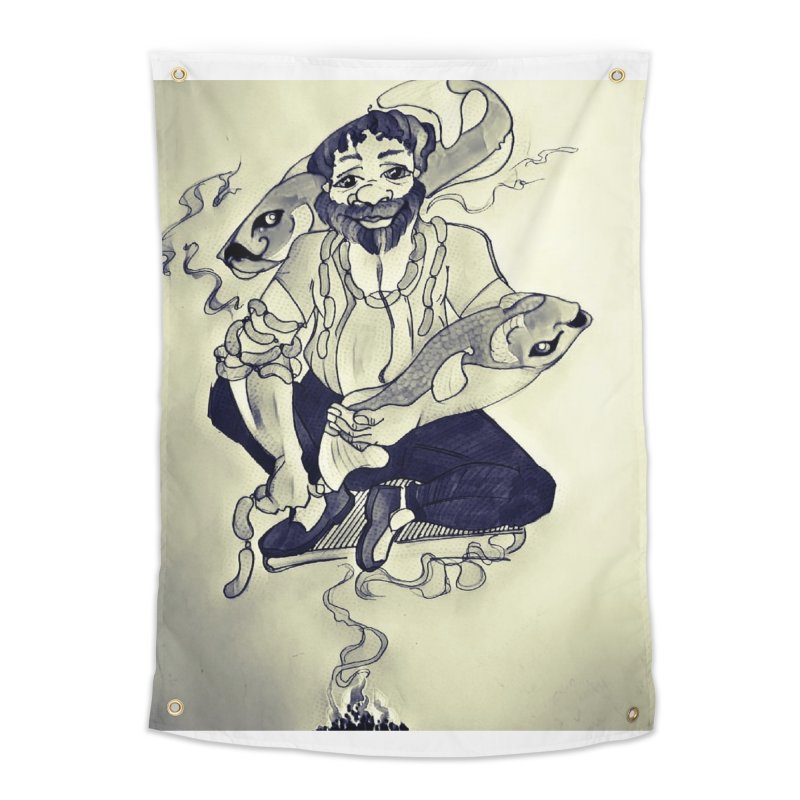 Smoker King Home Tapestry by peacewild's Artist Shop