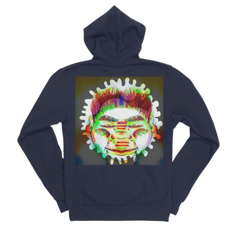 Peace&Color Men's Sponge Fleece Zip-Up Hoody by peacewild's Artist Shop