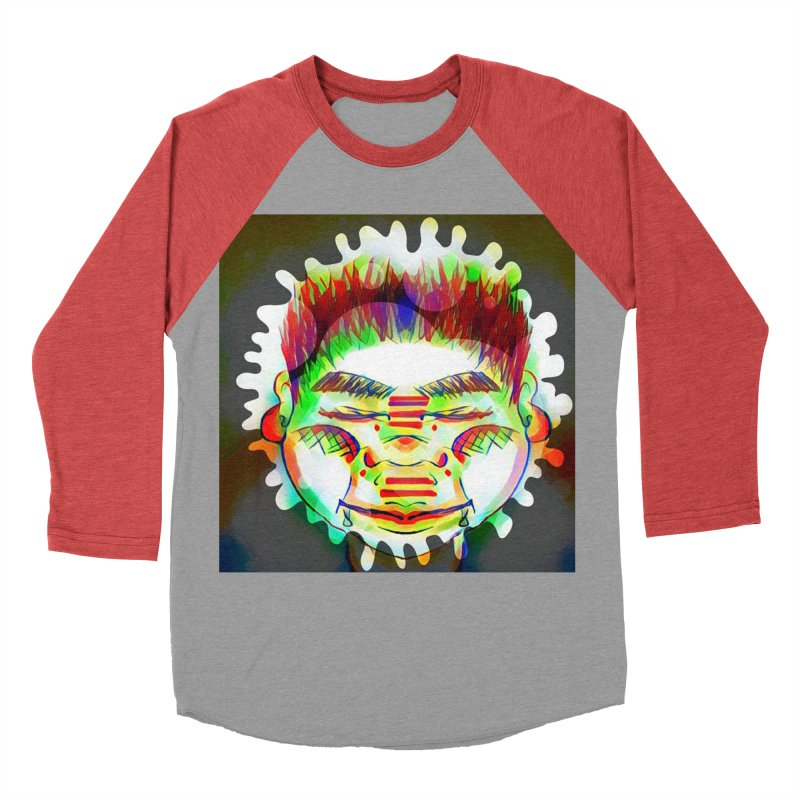Peace&Color Men's Baseball Triblend Longsleeve T-Shirt by peacewild's Artist Shop