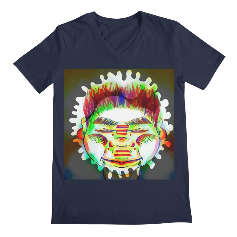 Peace&Color Men's Regular V-Neck by peacewild's Artist Shop