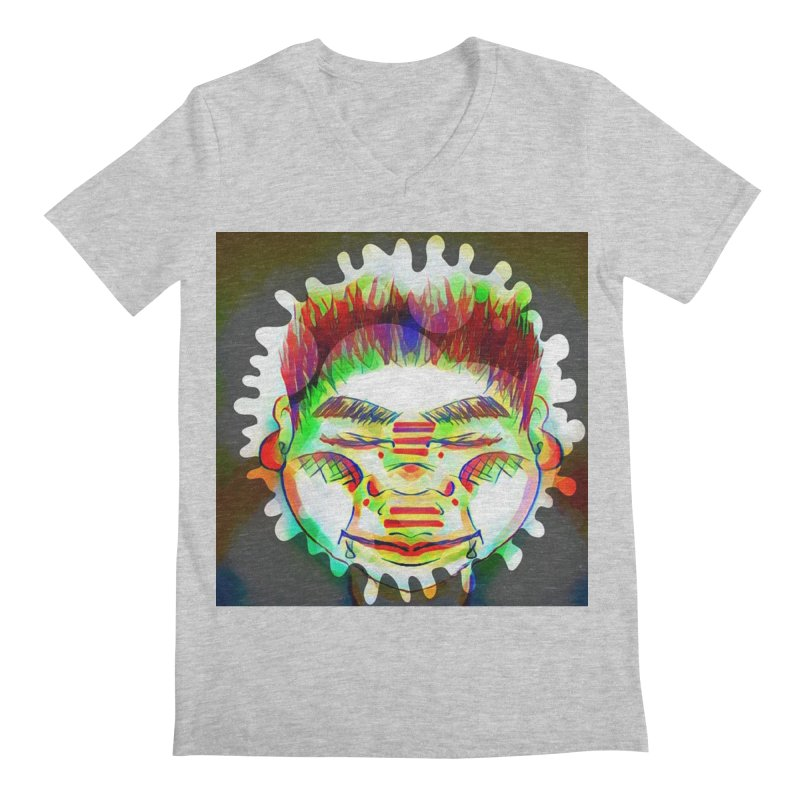 Peace&Color Men's Regular V-Neck by peacewild's Artist Shop