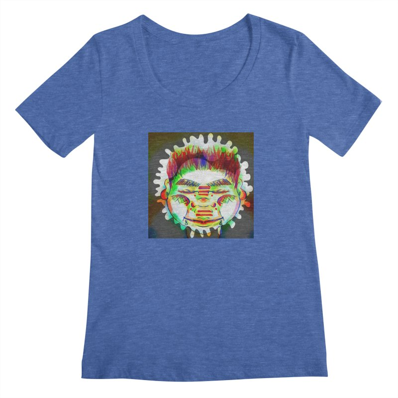 Peace&Color Women's Regular Scoop Neck by peacewild's Artist Shop