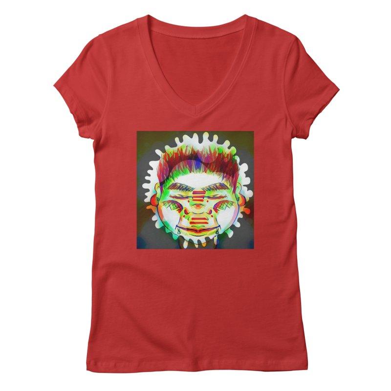 Peace&Color Women's Regular V-Neck by peacewild's Artist Shop