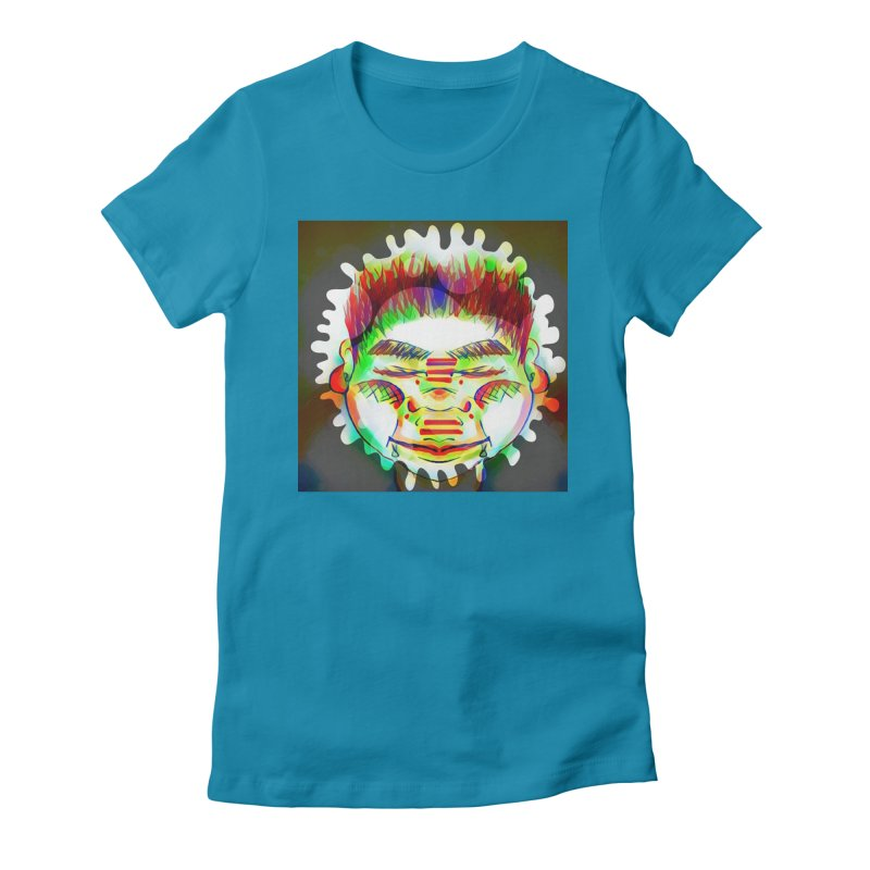 Peace&Color Women's Fitted T-Shirt by peacewild's Artist Shop