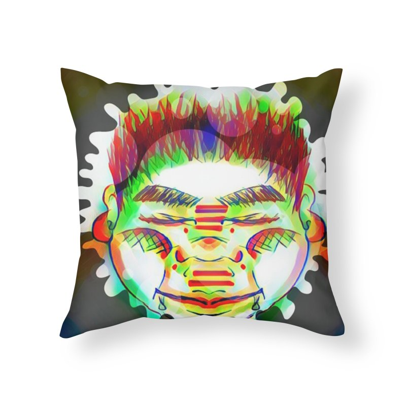 Peace&Color Home Throw Pillow by peacewild's Artist Shop