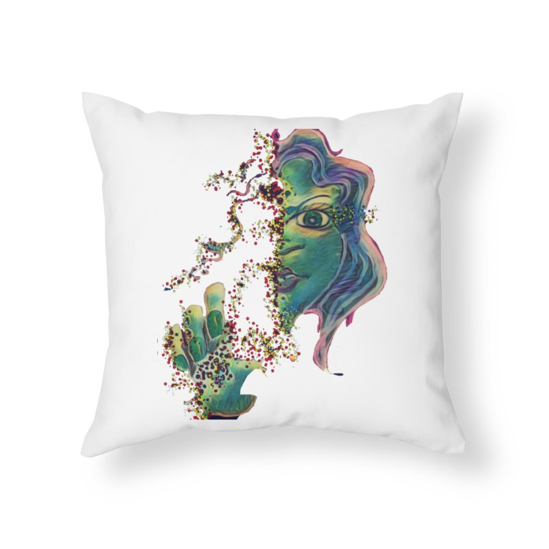 Pixels Home Throw Pillow by peacewild's Artist Shop