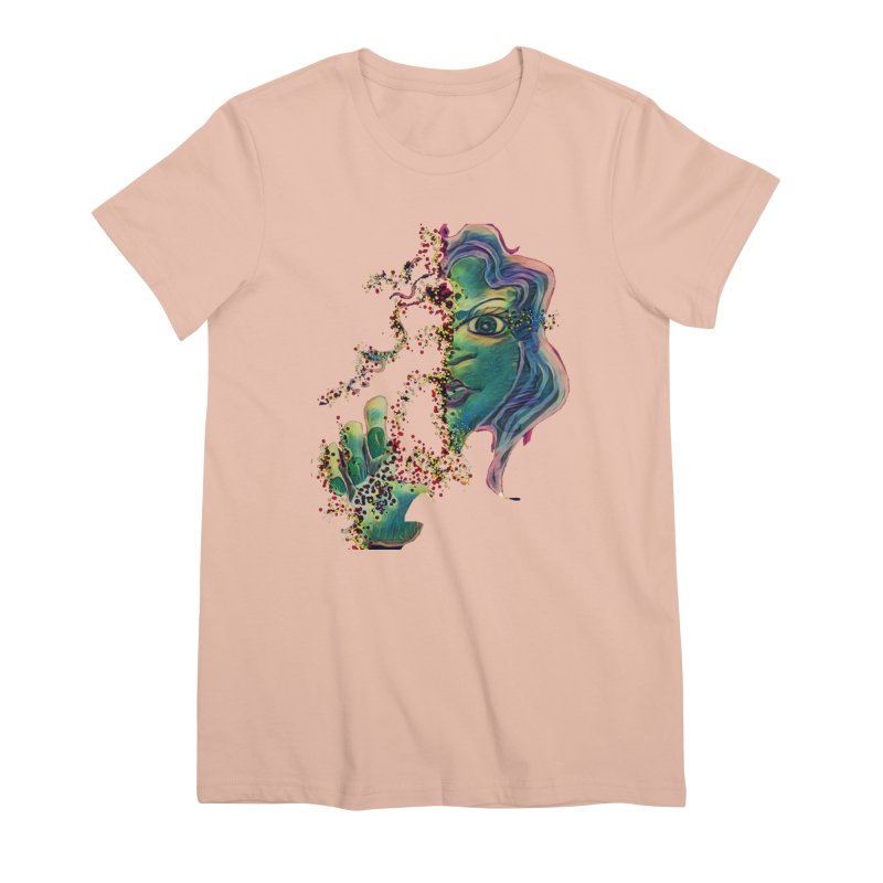 Pixels Women's Premium T-Shirt by peacewild's Artist Shop