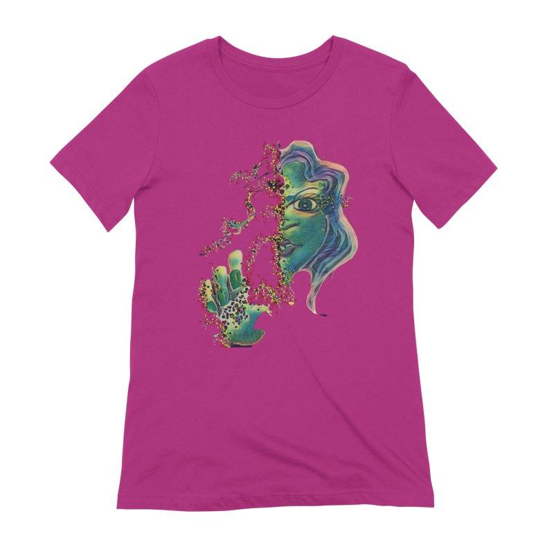 Pixels Women's Extra Soft T-Shirt by peacewild's Artist Shop
