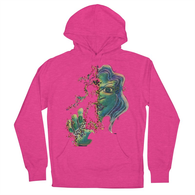 Pixels Women's French Terry Pullover Hoody by peacewild's Artist Shop