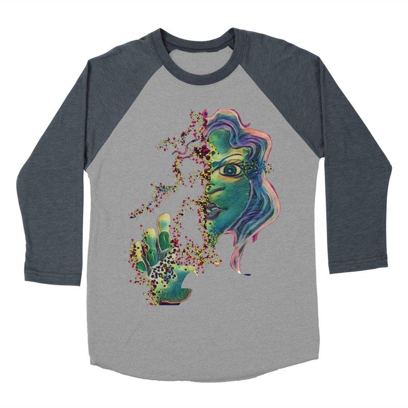 Pixels Women's Baseball Triblend Longsleeve T-Shirt by peacewild's Artist Shop