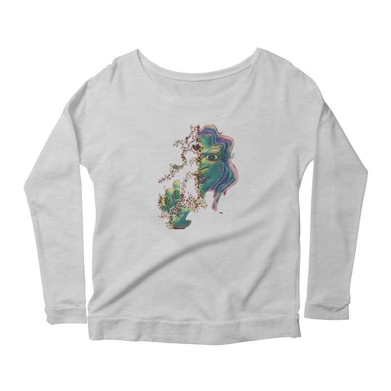 Pixels Women's Scoop Neck Longsleeve T-Shirt by peacewild's Artist Shop