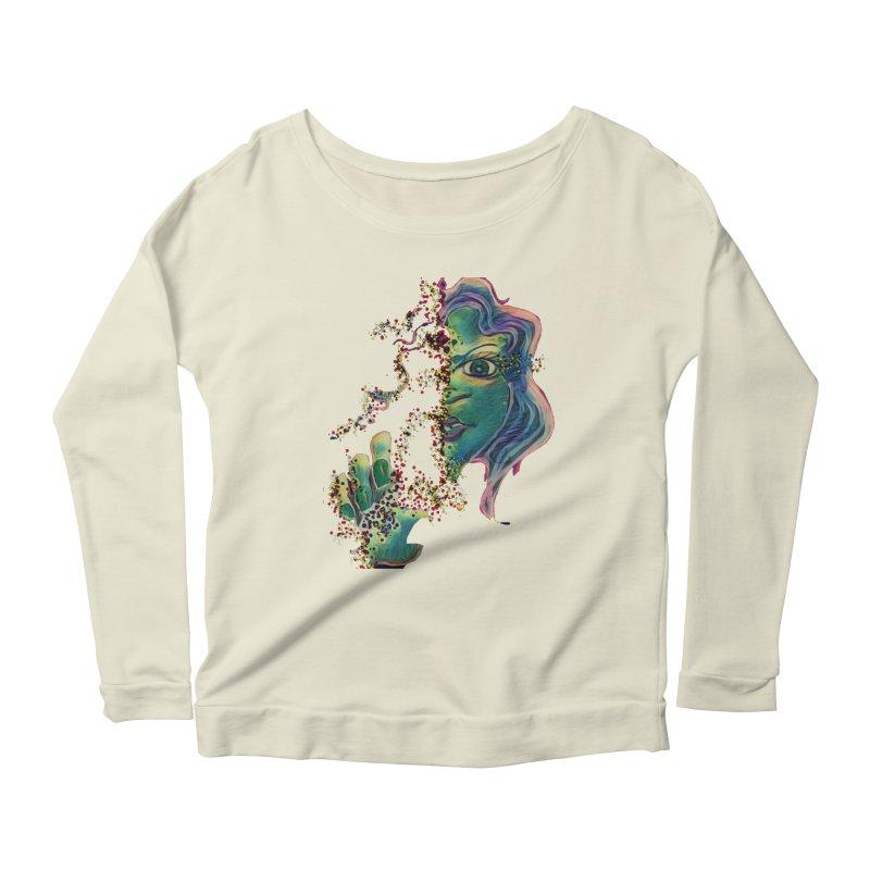 Pixels Women's Scoop Neck Longsleeve T-Shirt by peacewild's Artist Shop