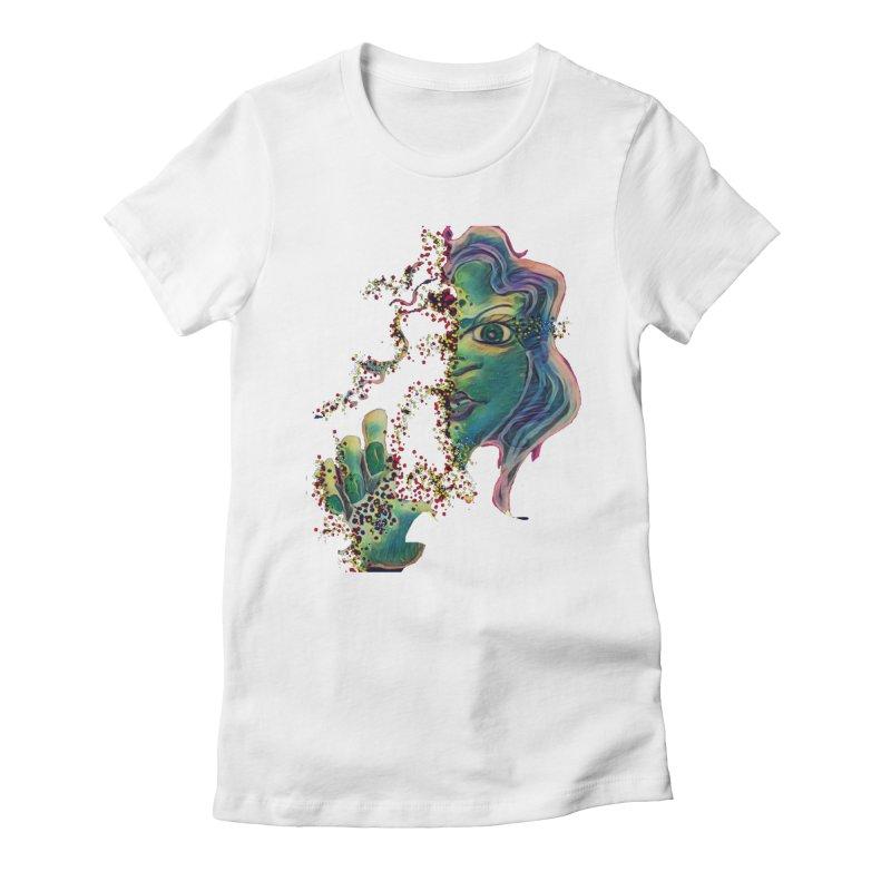 Pixels Women's Fitted T-Shirt by peacewild's Artist Shop
