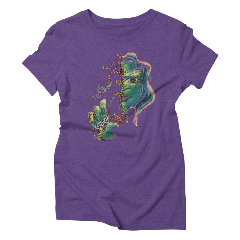 Pixels Women's Triblend T-Shirt by peacewild's Artist Shop