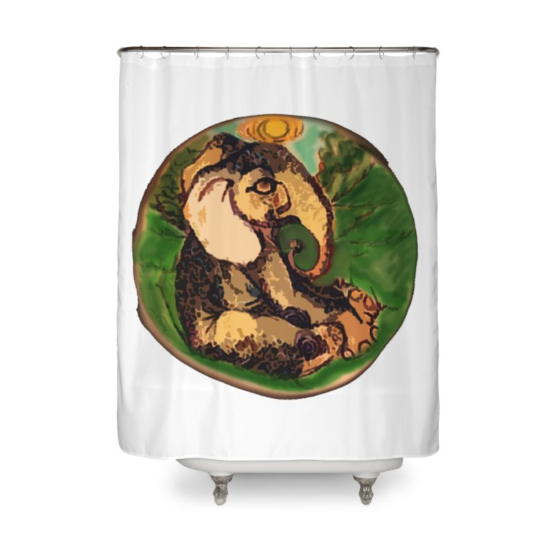 Elephant Dream Home Shower Curtain by peacewild's Artist Shop
