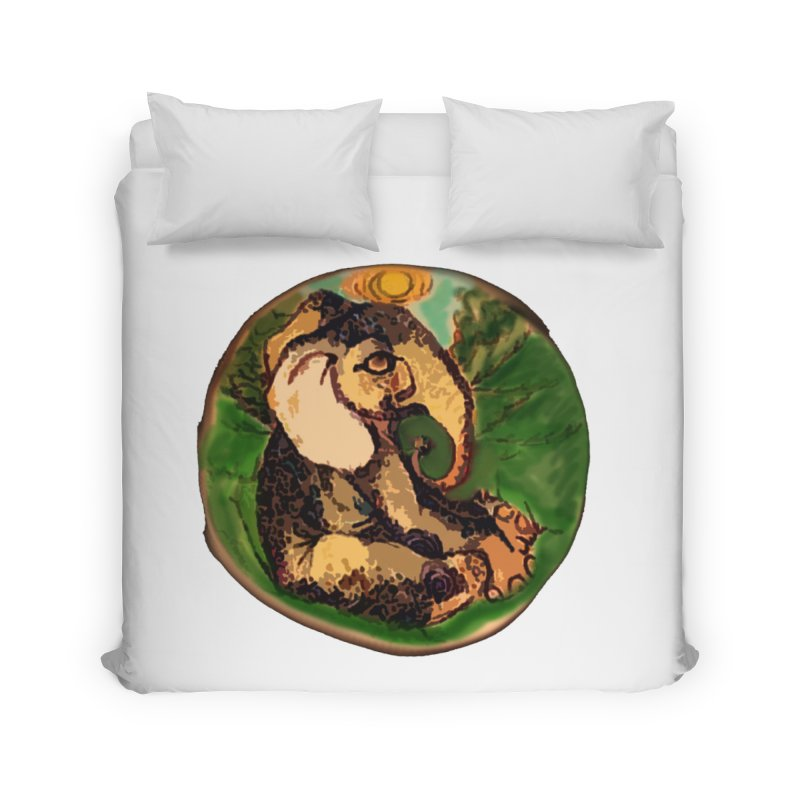 Elephant Dream Home Duvet by peacewild's Artist Shop