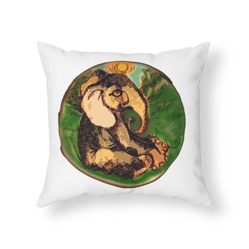 Elephant Dream Home Throw Pillow by peacewild's Artist Shop