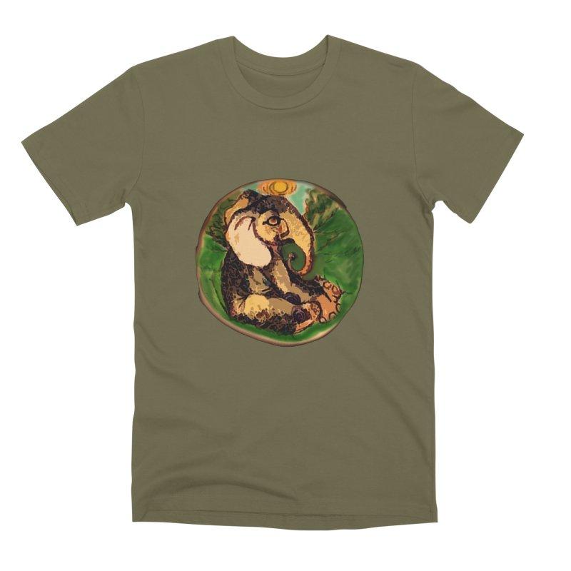 Elephant Dream Men's Premium T-Shirt by peacewild's Artist Shop