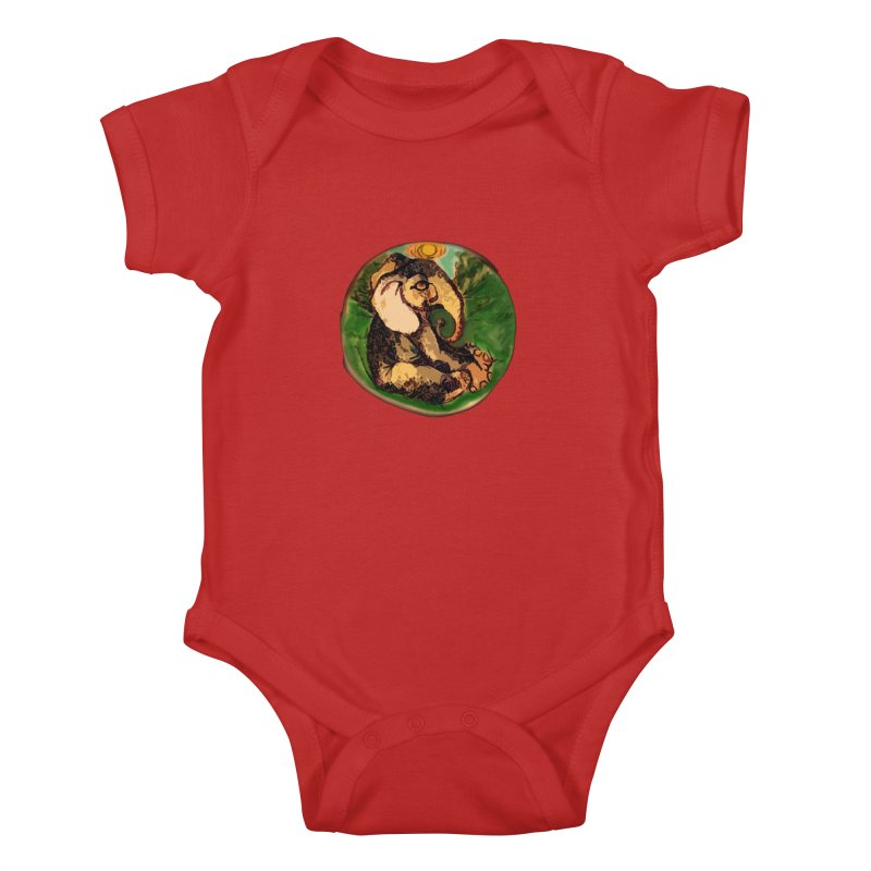 Elephant Dream Kids Baby Bodysuit by peacewild's Artist Shop