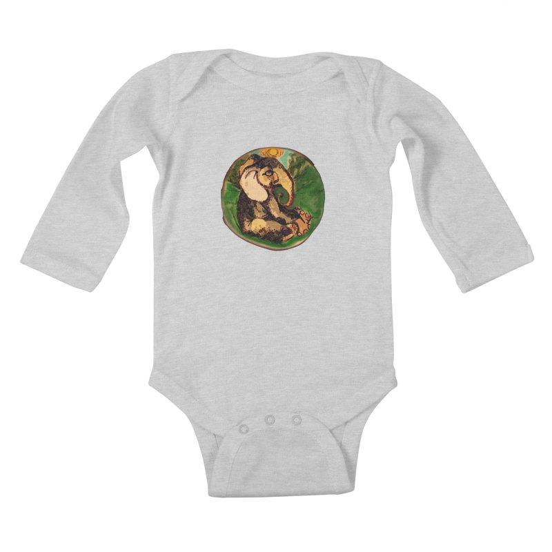 Elephant Dream Kids Baby Longsleeve Bodysuit by peacewild's Artist Shop