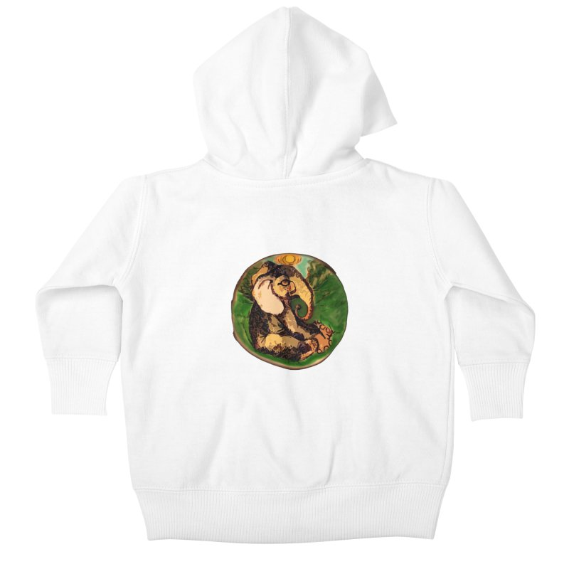 Elephant Dream Kids Baby Zip-Up Hoody by peacewild's Artist Shop
