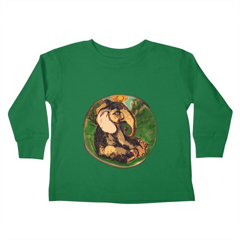 Elephant Dream Kids Toddler Longsleeve T-Shirt by peacewild's Artist Shop