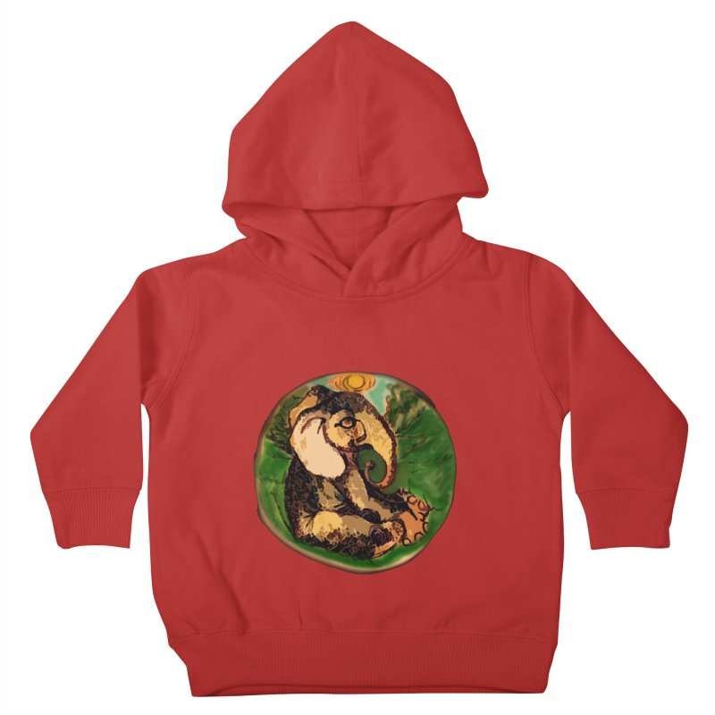 Elephant Dream Kids Toddler Pullover Hoody by peacewild's Artist Shop