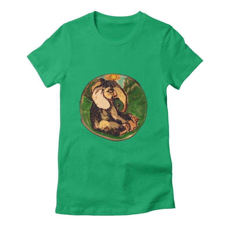 Elephant Dream Women's Fitted T-Shirt by peacewild's Artist Shop