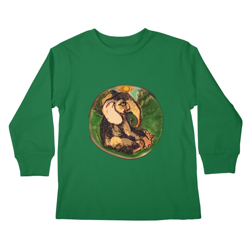 Elephant Dream Kids Longsleeve T-Shirt by peacewild's Artist Shop