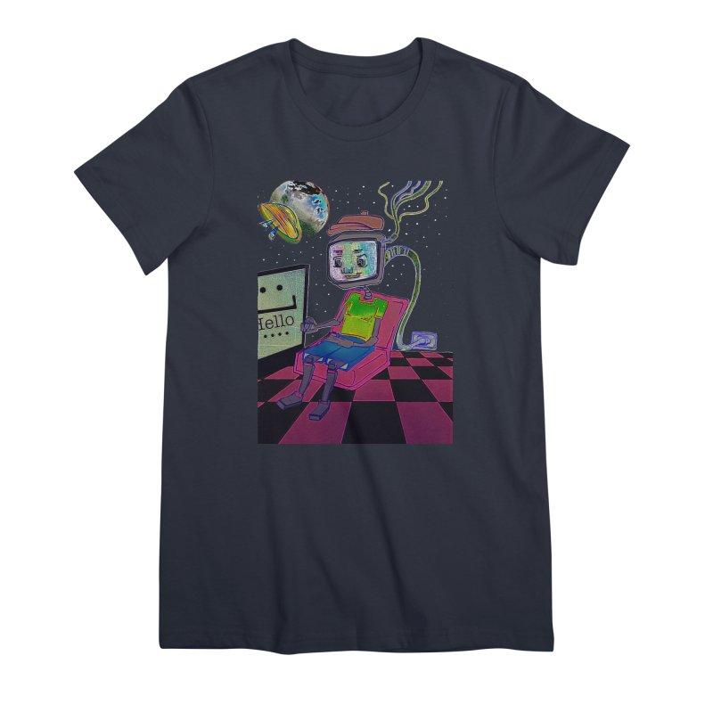 Robot World Women's Premium T-Shirt by peacewild's Artist Shop