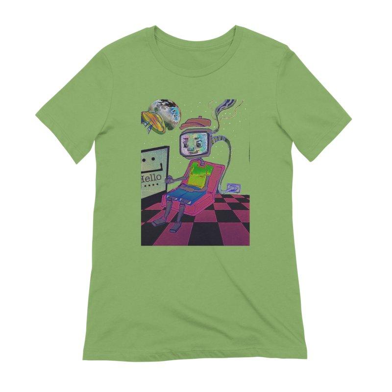 Robot World Women's Extra Soft T-Shirt by peacewild's Artist Shop
