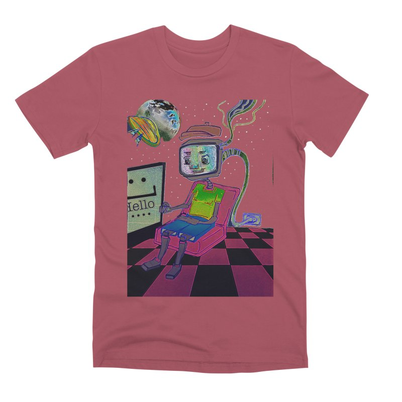 Robot World Men's Premium T-Shirt by peacewild's Artist Shop