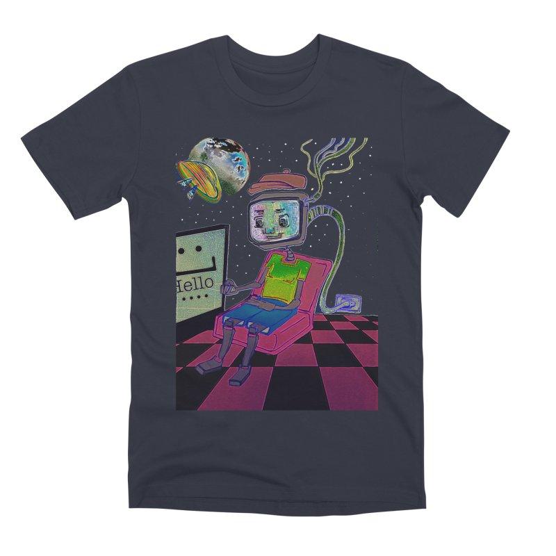 Robot World Men's Premium T-Shirt by peacewild's Artist Shop