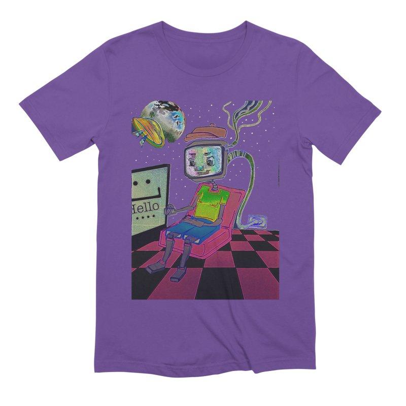 Robot World Men's Extra Soft T-Shirt by peacewild's Artist Shop