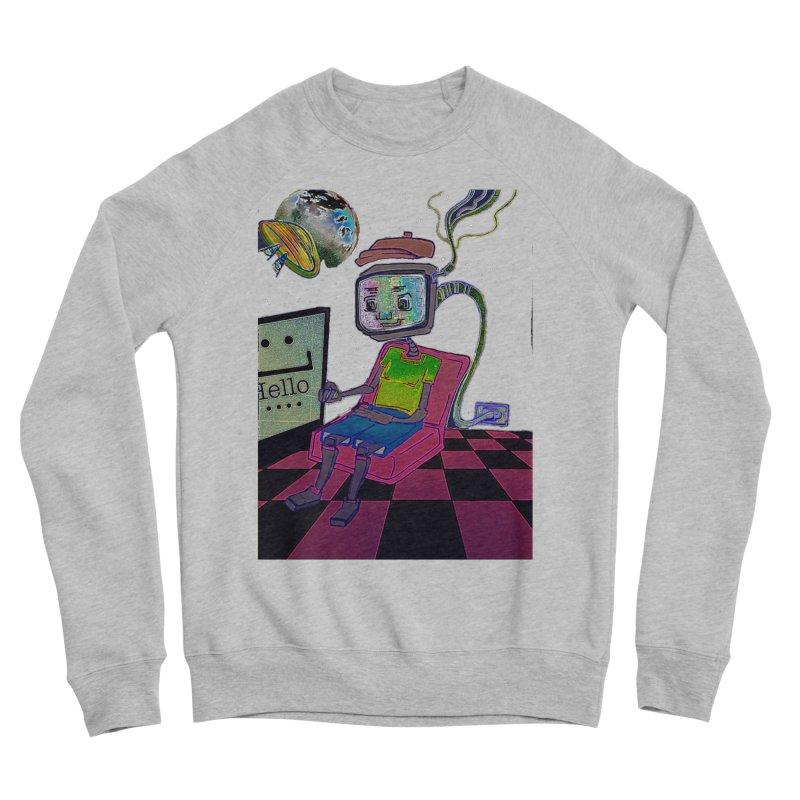 Robot World Men's Sponge Fleece Sweatshirt by peacewild's Artist Shop