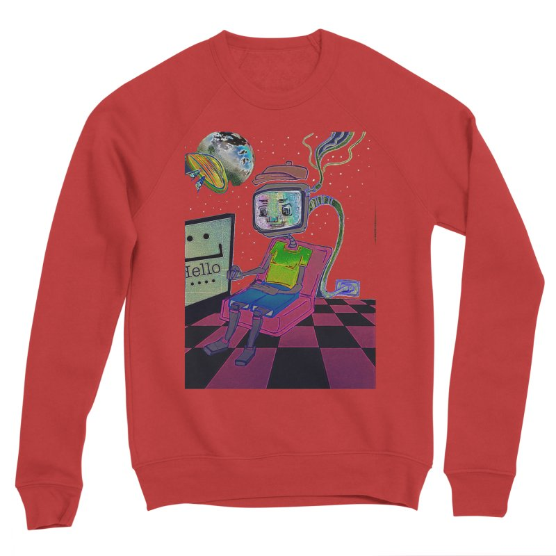 Robot World Women's Sponge Fleece Sweatshirt by peacewild's Artist Shop