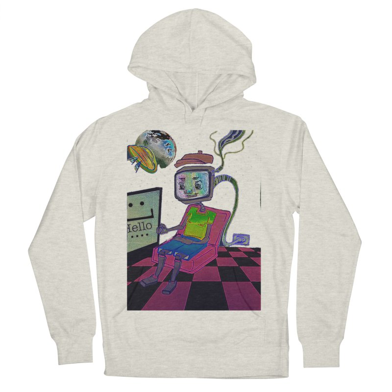 Robot World Women's French Terry Pullover Hoody by peacewild's Artist Shop