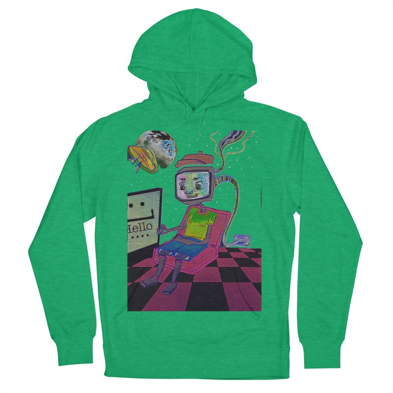 Robot World Men's French Terry Pullover Hoody by peacewild's Artist Shop