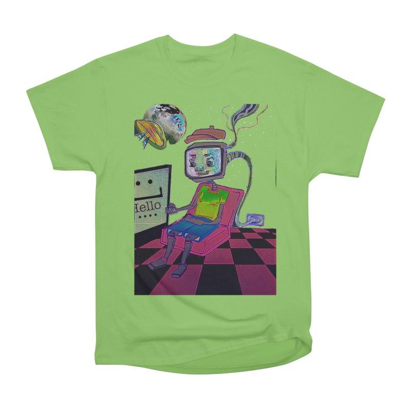Robot World Men's Heavyweight T-Shirt by peacewild's Artist Shop