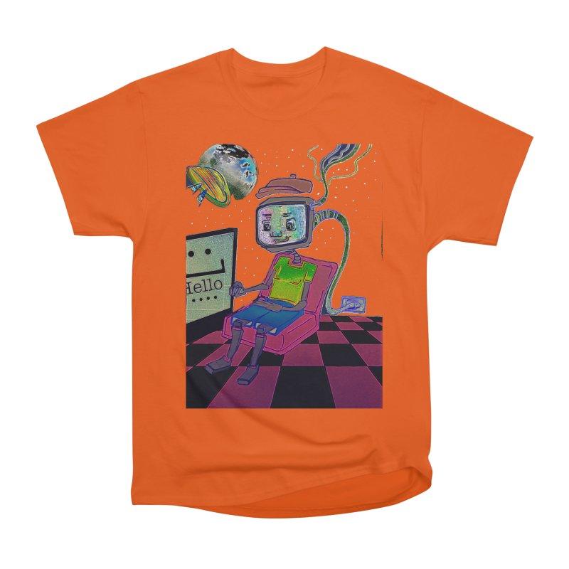Robot World Women's Heavyweight Unisex T-Shirt by peacewild's Artist Shop