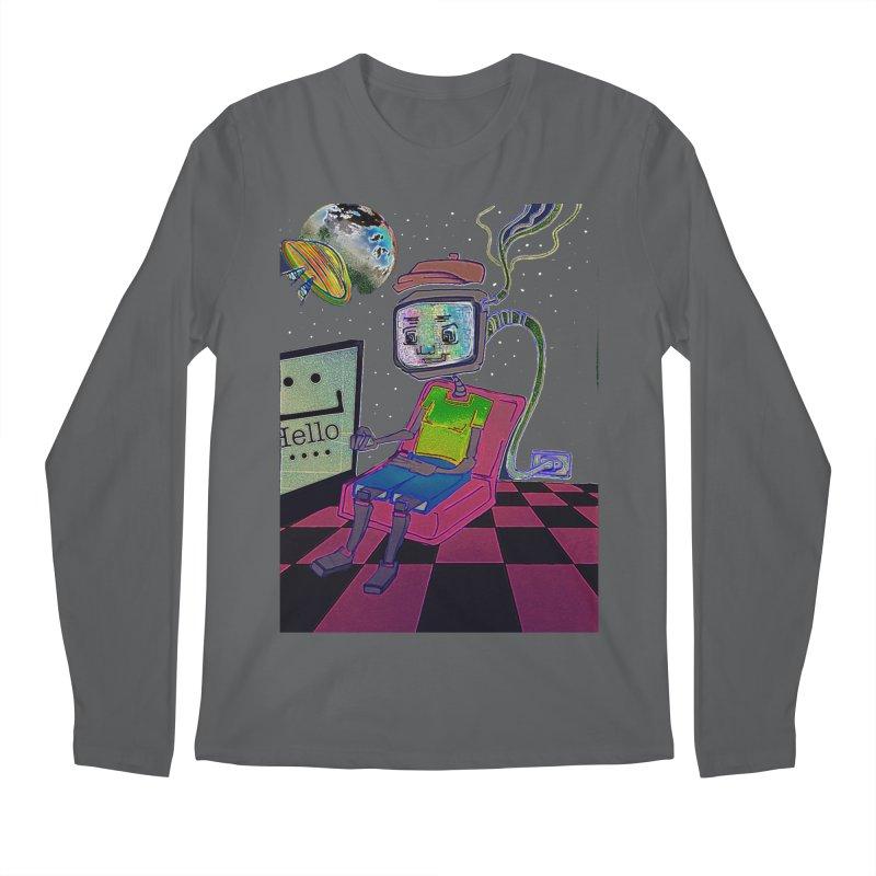 Robot World Men's Regular Longsleeve T-Shirt by peacewild's Artist Shop