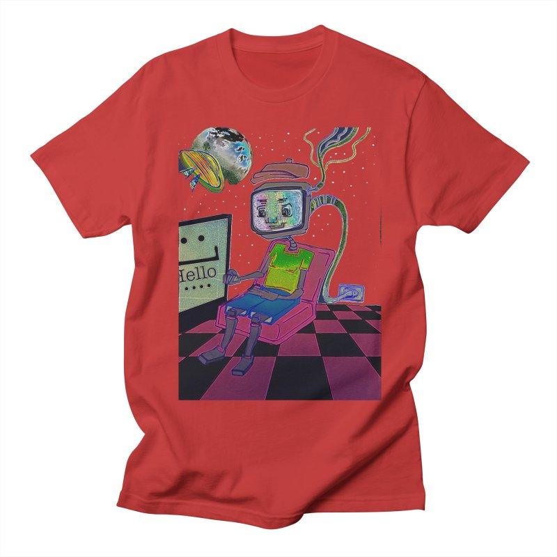 Robot World Men's Regular T-Shirt by peacewild's Artist Shop