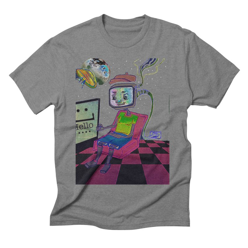 Robot World Men's Triblend T-Shirt by peacewild's Artist Shop